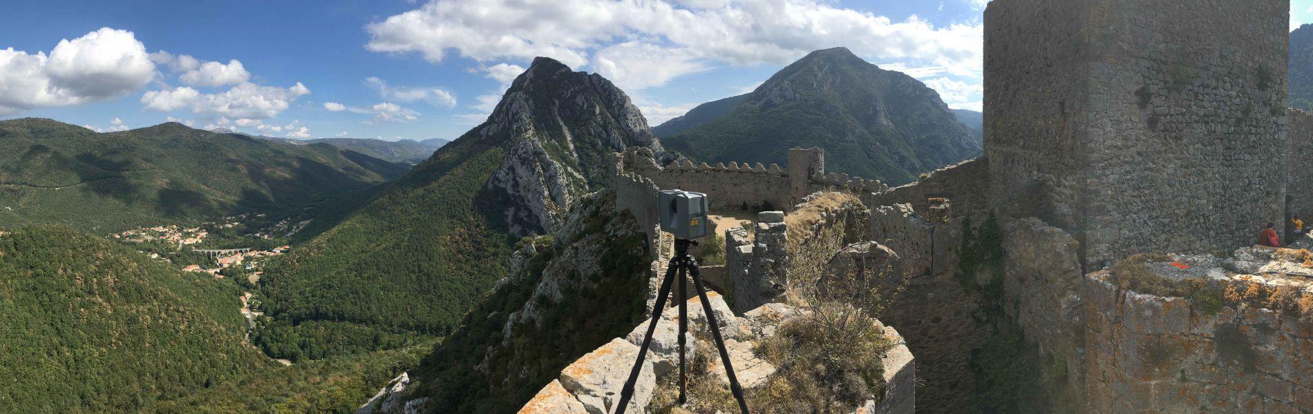 scan du château de Puilaurens